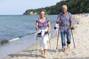 Nordic Walking am Strand von Göhren auf Rügen. Einzigartig - Kneipp und Mee(h)r!
