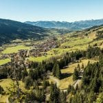 Ostrachtal Blick in die Berge